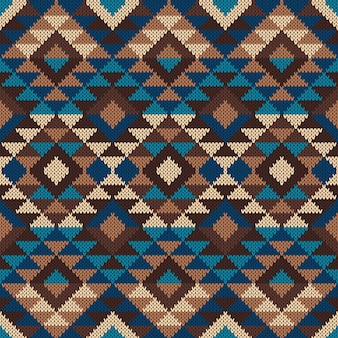 Traditioneel tribaal azteeks patroon