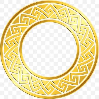 Traditioneel vintage gouden grieks ornament, meander
