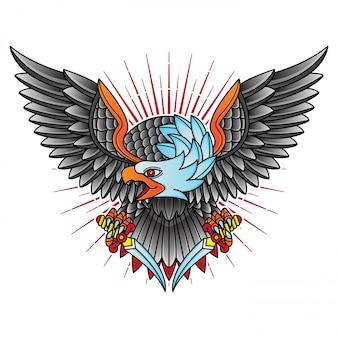 Traditionele adelaar illustratie
