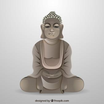 Traditionele budha met realistische stijl