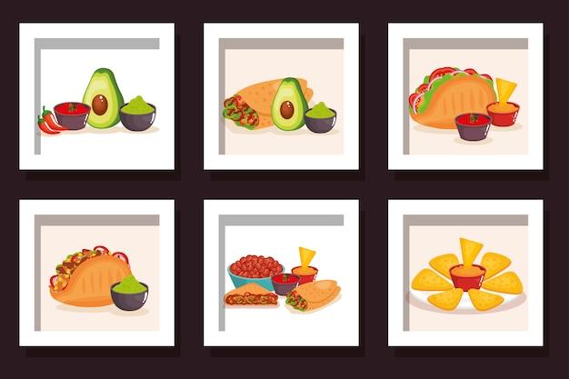 Traditionele bundel van voedsel mexico