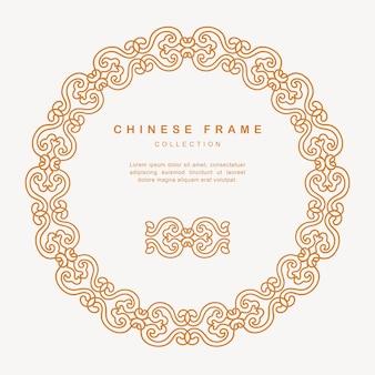 Traditionele chinese ronde frame maaswerk decoratie ontwerpelementen