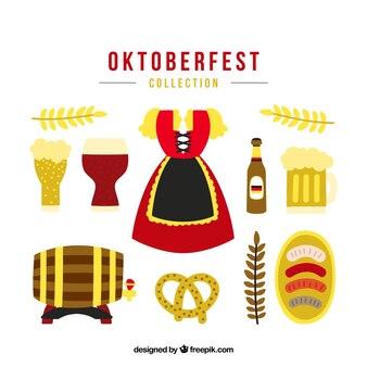 Traditionele duitse jurk met oktoberfest elementen