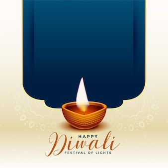 Traditionele gelukkige diwali-festivalachtergrond met tekstruimte