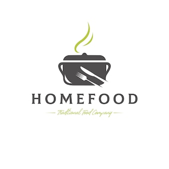 Traditionele gerechten vector logo sjabloon