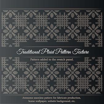 Traditionele geruite patroon textuur. naadloze stof textuur afdrukken. kan op een weefholster worden gemonteerd.
