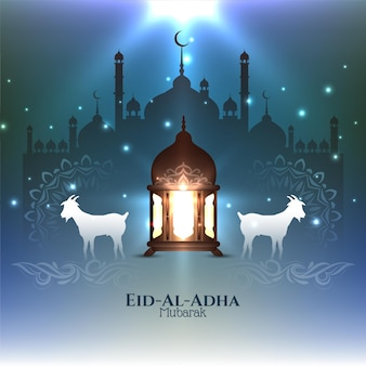 Traditionele islamitische religieuze festival eid al adha mubarak achtergrond vector