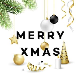 Traditionele kerstdecoratie-elementen. moderne kaart- of posterontwerpen. vectorillustratie eps10