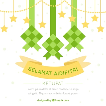 Traditionele ketupat achtergrond
