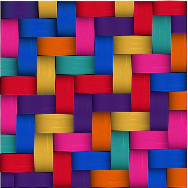 Traditionele kleurrijke mexicaanse gebruiksspel palm weven naadloze patroon Premium Vector