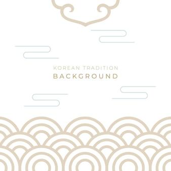 Traditionele koreaanse nieuwe jaarachtergrond