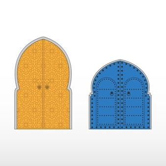 Traditionele marokkaanse toegangsdeuren