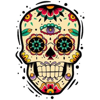 Traditionele mexicaanse suikerschedel