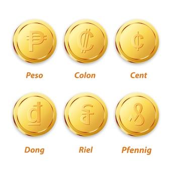 Traditionele munt gouden vector