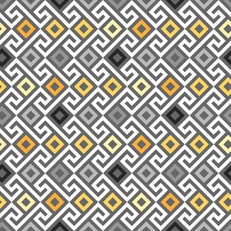 Traditionele naadloze vintage gouden vierkante griekse ornament meander