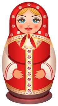 Traditionele nationale geschilderde houten van russische pop