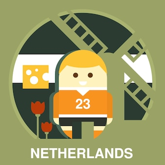 Traditionele nederlander illustratie