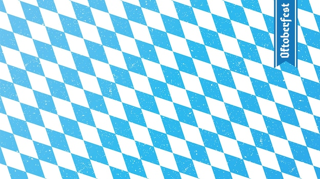 Traditionele oktoberfest ruit blauwe en witte print beierse vlag
