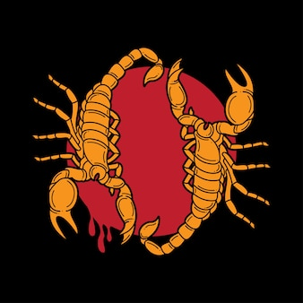 Traditionele scorpion tattoo-flitser