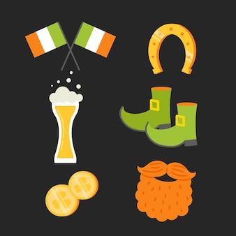 Traditionele st. patrick's day voorwerpen en bier