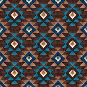 Traditionele tribal azteekse naadloze patroon