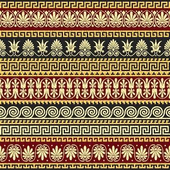 Traditionele vintage gouden griekse sieraad, meander
