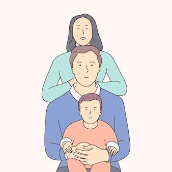 Traditionele waarden, binding, familie-idylle concept