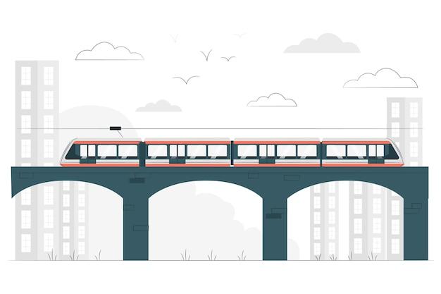 Train concept illustratie