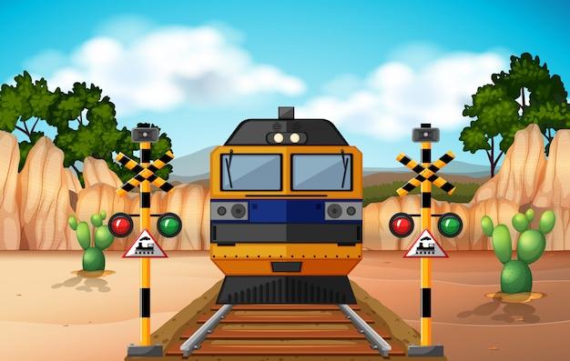 Train op de baan