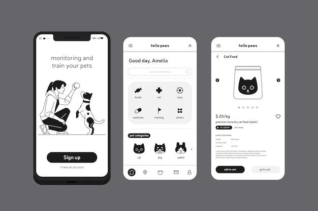 Train uw mobiele telefoon-app voor huisdieren