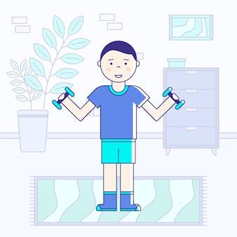 Training binnenshuis concept