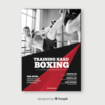 Training hard poster sjabloon