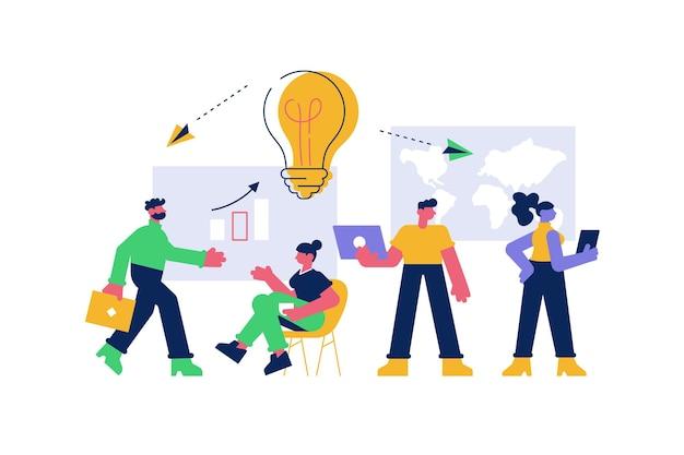 Training voor zakelijke bijeenkomsten en verbetering van professionele vaardigheden