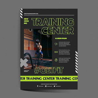 Trainingscentrum poster sjabloon