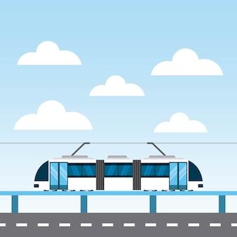 Tram openbare pictogram