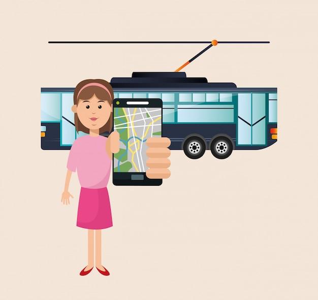 Tram voertuig en transport