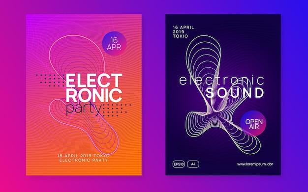 Trance evenement flyer set