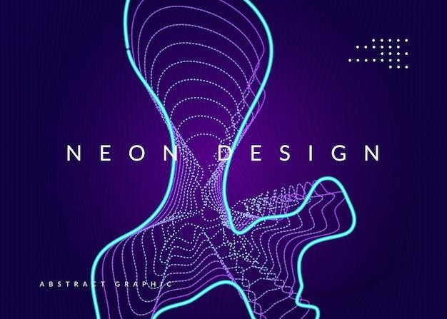 Trance feest. futuristische discotheek tijdschrift sjabloon. dynamische vloeiende vorm en lijn. neon trance feestvlieger. electro-dansmuziek. elektronisch geluid. club dj-poster. technofest evenement.