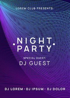Trance party dj neon flyer geluid fest.