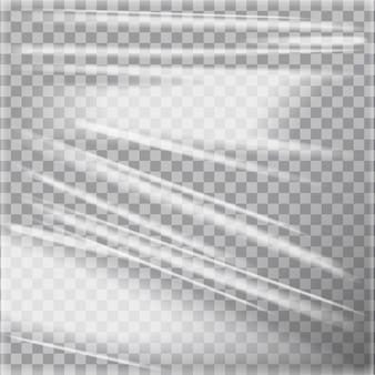 Transparant glanzend polyethyleen plastic warp. sjabloon