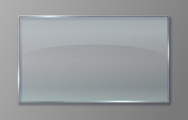 Transparant glazen paneel. doorzichtige plastic plaat met glanzend effect