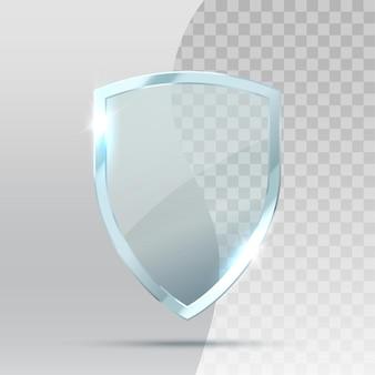 Transparant glazen schildbeschermer bescherming illustratie