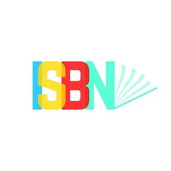 Transparant isbn-teken zoals geopend boek. concept van boekje, ebook, commerciële standaardliteratuur, pers. geïsoleerd op een witte achtergrond. vlakke stijl trend moderne logo ontwerp vectorillustratie