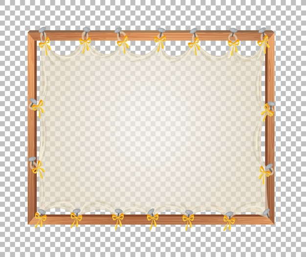 Transparant leeg houten bord