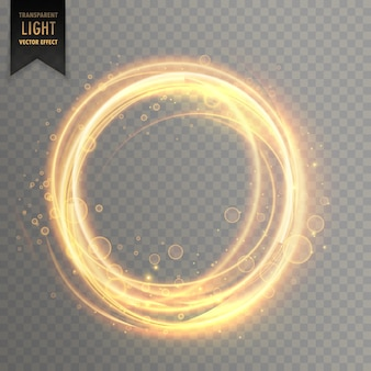 Transparant lichteffect met circlular gouden fonkelingen