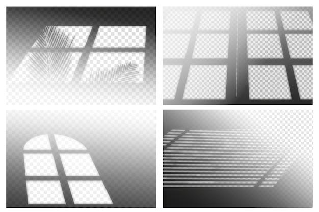 Transparant schaduwen ovelay effect concept