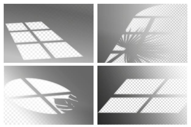 Transparant schaduwen ovelay effect ontwerp