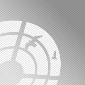 Transparant schaduwen-overlay-effect met vogels