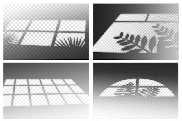 Transparant schaduwenthema met ovelay-effect