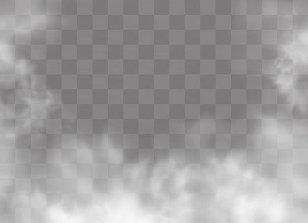 Transparant speciaal effect valt op door mist of rook.